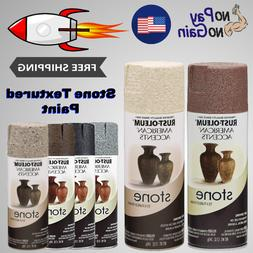 12-Oz Stone Textured Spray Paint For Metal Wood And Plastic