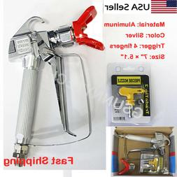 3600PSI Airless Paint Spray Gun w/ Tip&Tip Guard Sprayers US