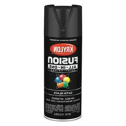 Krylon K02732007 Rust Preventative Spray Paint, Black, Satin