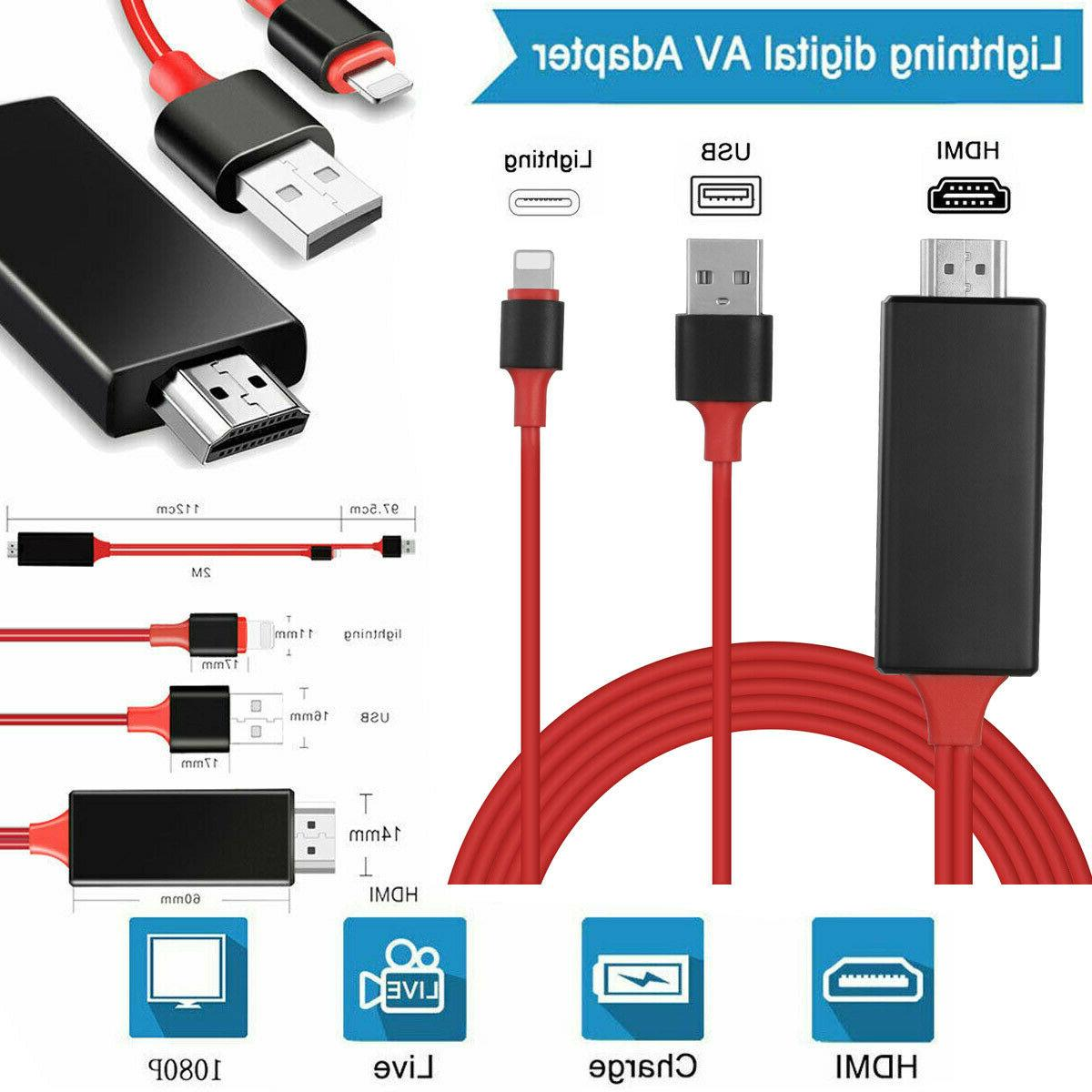lightning to hdmi hdtv av cable adapter
