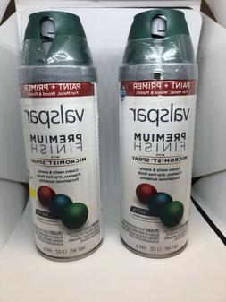 LOT OF 2 Valspar Micromist Spray 12 Oz SATIN PEACOCK Premium