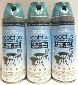 Lot of 3 Valspar Outdoor Anti-Rust Primer 84605 Gloss Peacoc